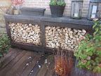 Maatwerk houtopslag/ tuinwerktafel