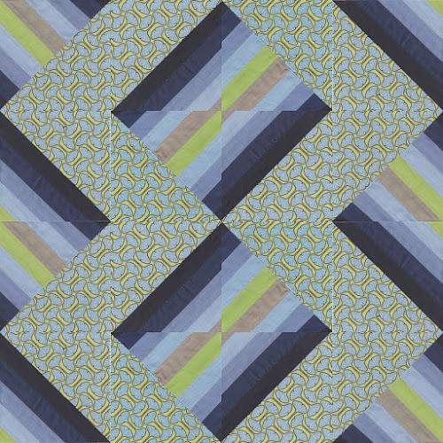 Scrappy Half Square Triangle block and quilt design