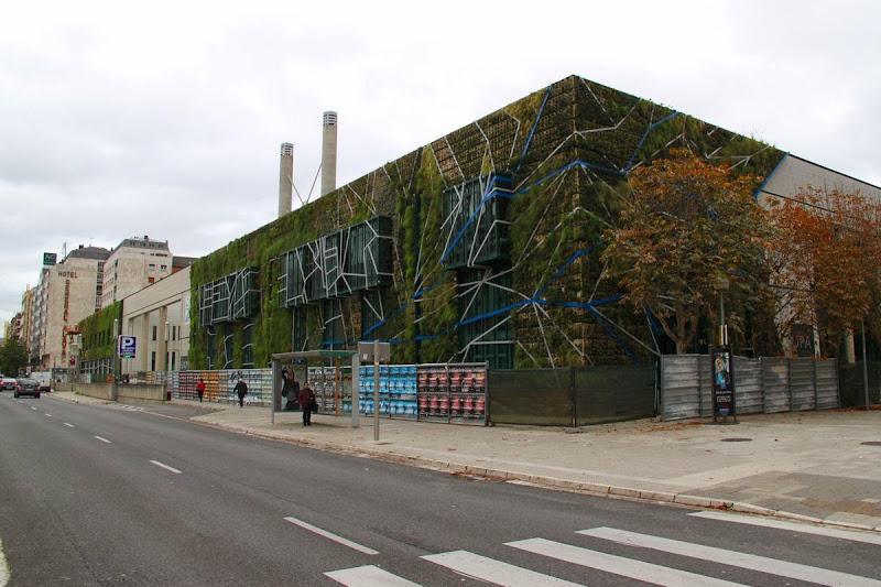 Fachada vegetal del Palacio de Congresos de Vitoria-Gasteiz