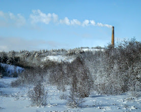 Photo: We drove to Sudbury on Friday, April 4th and took the Budd car to Sheahan on Saturday. We left Sudbury almost on time and as we left the outskirts of Sudbury we noticed the familiar smoke stack at Copper Cliff.