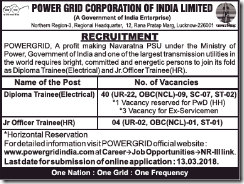Power Grid Notification 2018 www.indgovtjobs.in