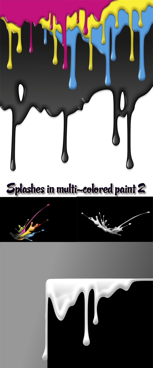 Stock: Splashes in multi-colored paint 2