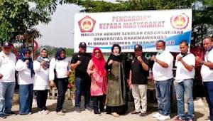 Dukung Sektor Pariwisata, Magister Hukum Undhar PKM di Danau Siombak
