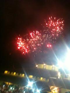 perayaan malam tahun baru hijriah pesta kembang api