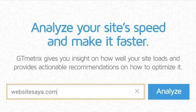 Gtmetrix alat untuk menguji kecepata situs blog atau website