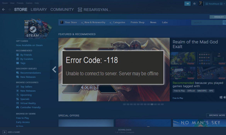 4 Ways to Overcome Steam Error Code 118