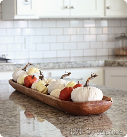 dough bowl with pumpkins