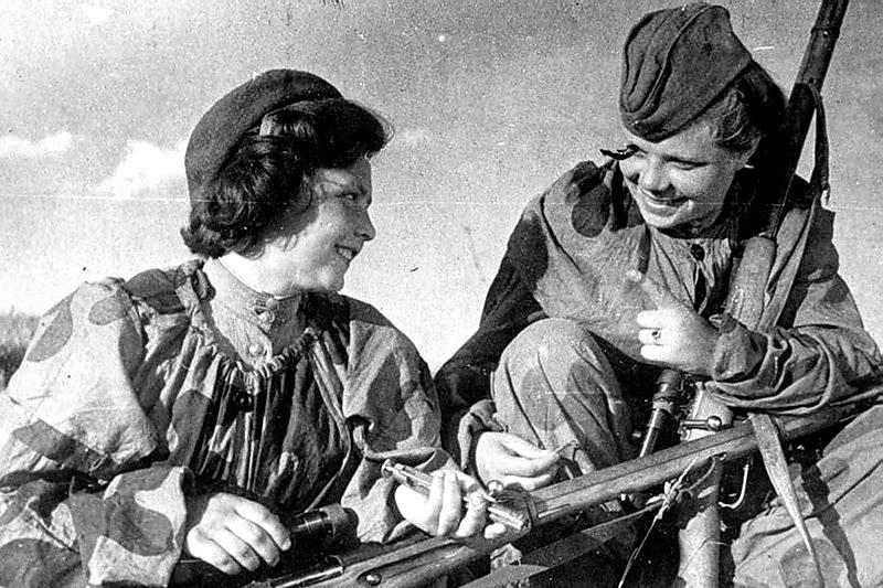 Снайперы Красной армии