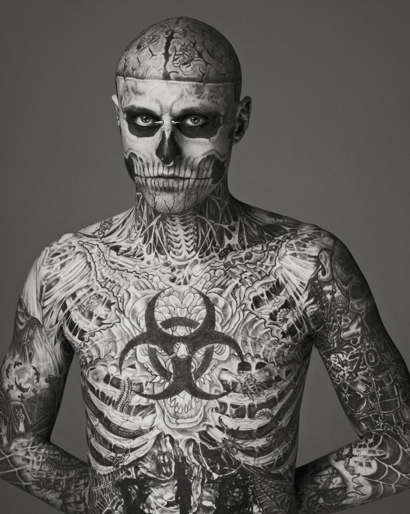 The boy from klang rick genest the zombie boy for Tattooed single men