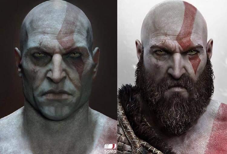 Ecco Kratos Senza Barba