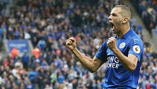 Slimani : «C'est une belle entame, merci aux fans de Leicester !»