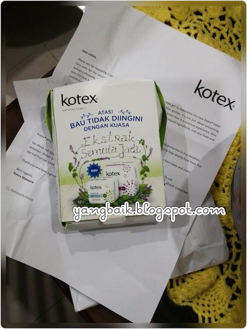 Sample Kotex Odor-Care