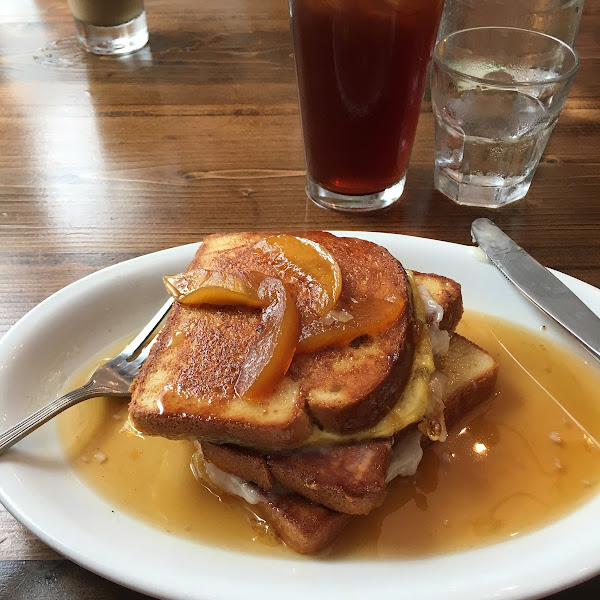 Wow! GF Peach stuffed French toast! I couldn't tell you the last time I had plain French toast out to eat, let alone this! It was AMAZING. I HIGHLY recommend.