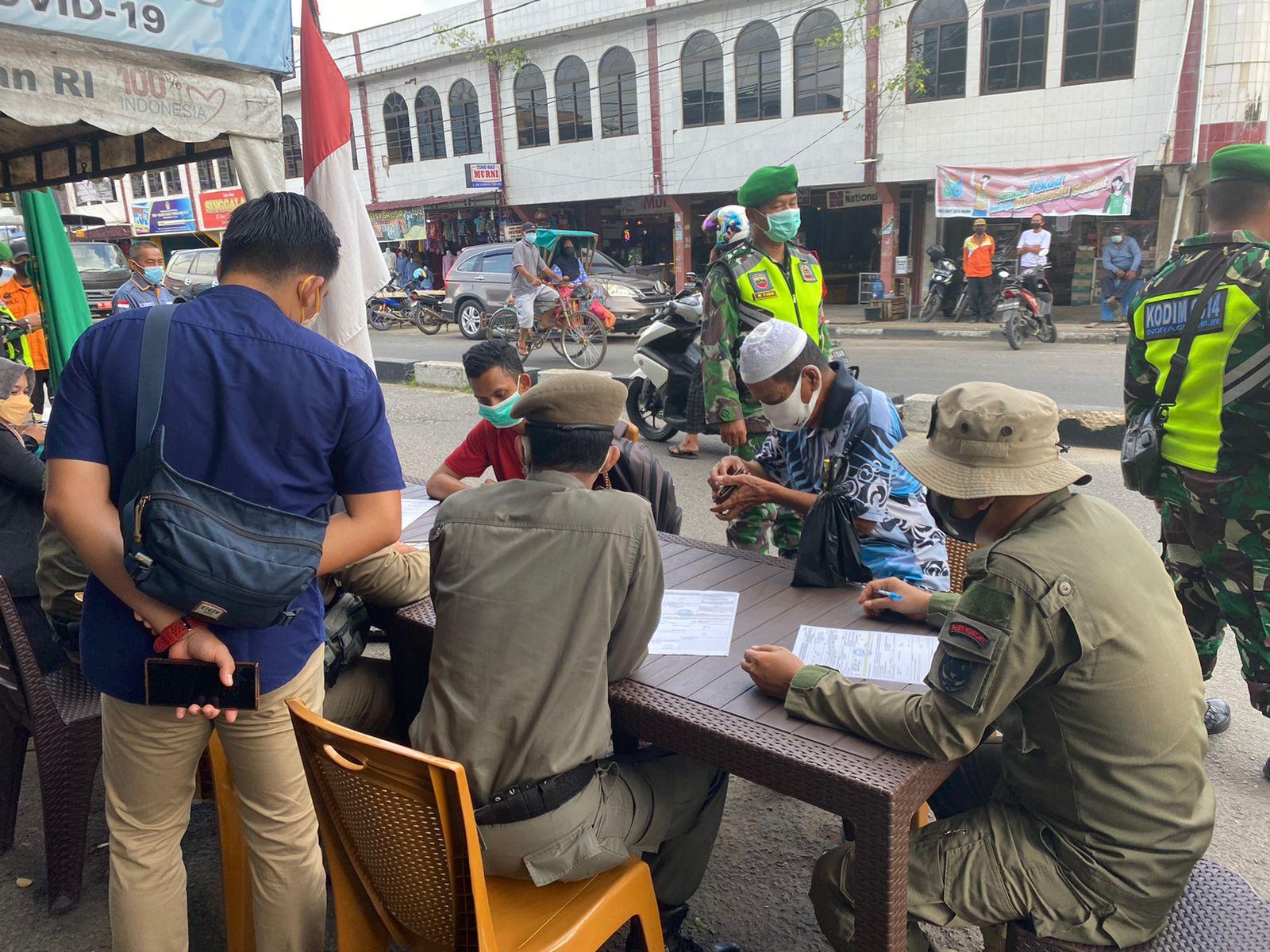 Tiga Warga Inhil Terjaring Operasi Yustisi Melanggar Prokes Covid-19