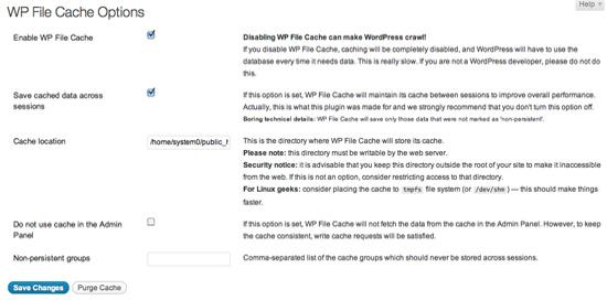 WP file Cache WordPress Plugins