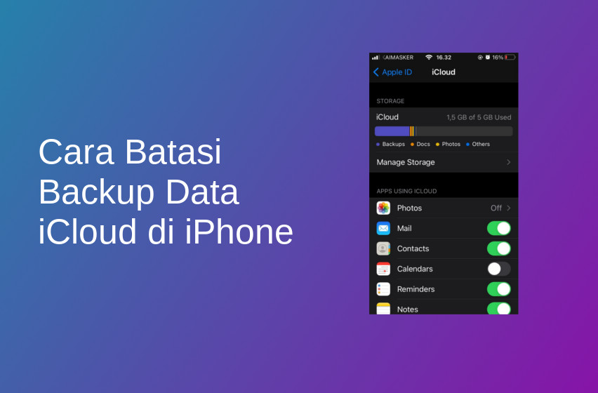 Cara Batasi Backup Data iCloud di iPhone