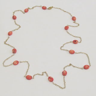 Vermeil and Coral Necklace