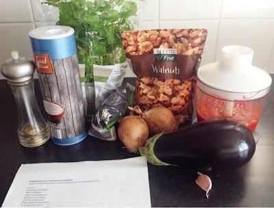 Bulgurpilaf met aubergine en walnoten