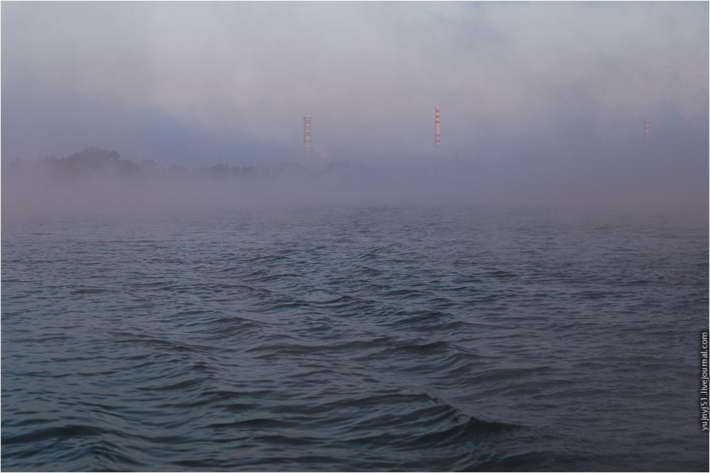 Курская АЭС в тумане