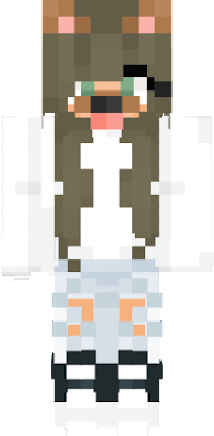 this skin is a girl dog!She wants to go around and find food or enemies to