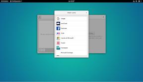 Como configurar GNOME con detalle. Configuración personal. Cuentas en línea. Añadir cuenta.