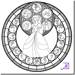 Mandala la Sirenita | Mandala disney para colorear