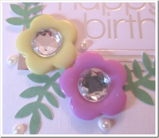 Button Flower Card. 2