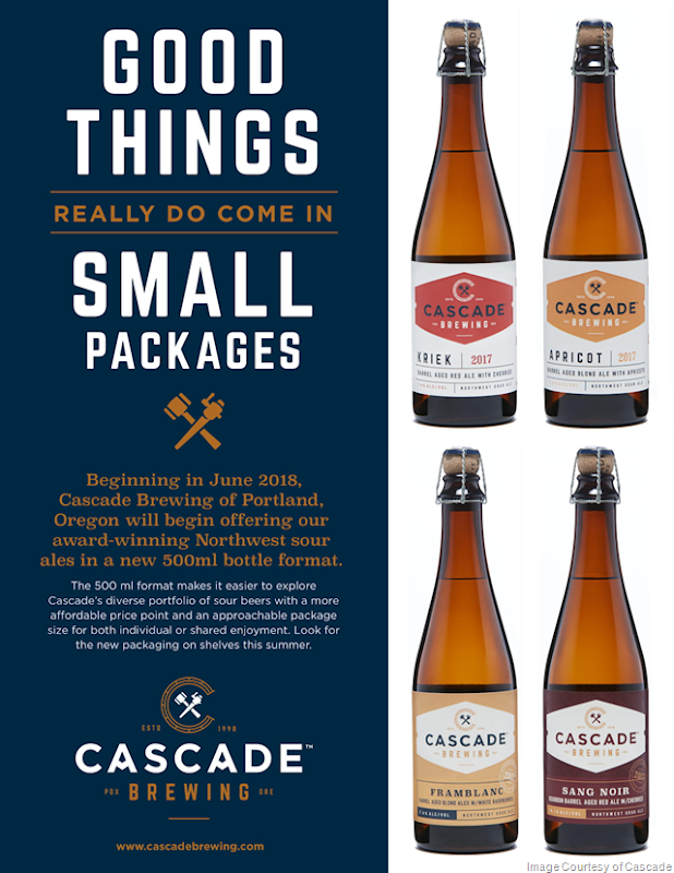 Cascade Brewing Introduces 500ml Bottles for its Northwest Sour Beers