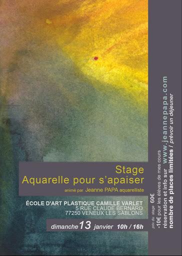 stage aquarelle Jeanne PAPA octobre 2018