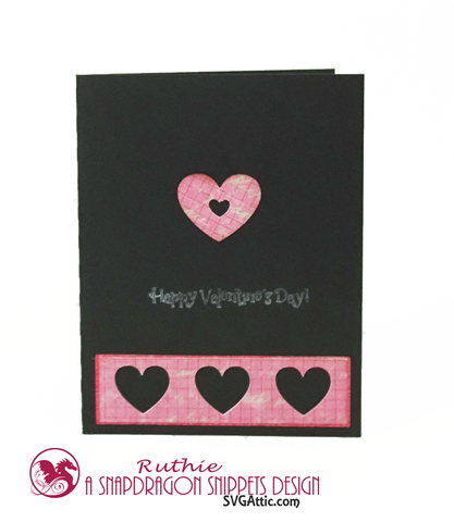A2 HEART CARD, SnapDragon Snippets, Ruthie Lopez