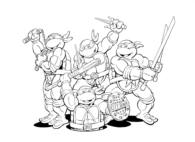 Download And Print Kids Ninja Turtles Free Superhero Coloring Pages