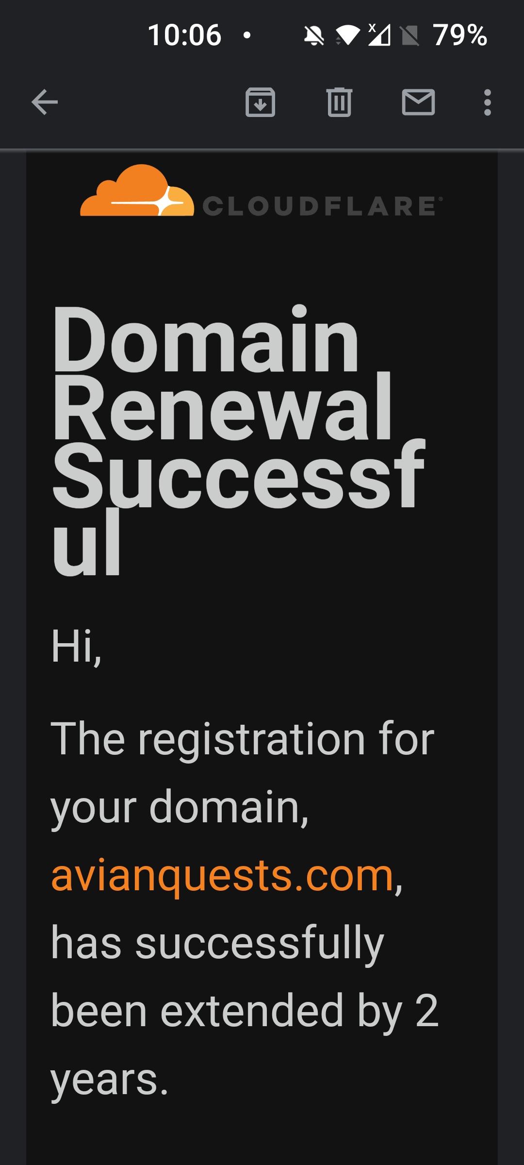 Cloudflare Domain Auto Renewal