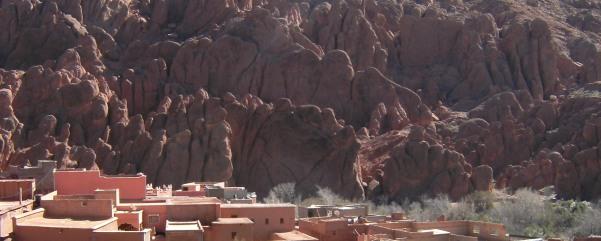 Affenfelsen, Oued Dades, Atlas-Gebirge, Marokko