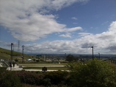 View of Bay Area from rest area on I-80