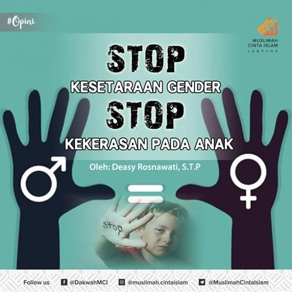 Stop Kesetaraan Gender, Stop Kekerasan pada Anak
