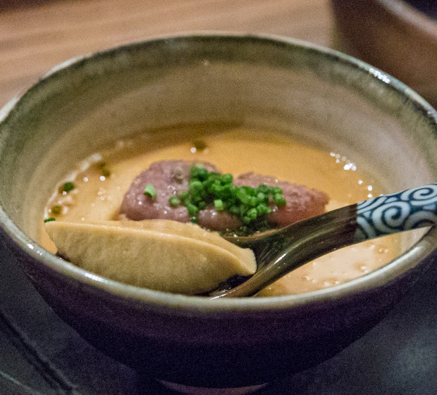 close-up photo of a Steamed Foie Gras Custard