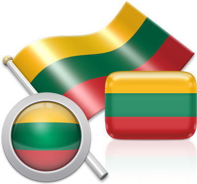 Lithuanian flag icons pictures collection
