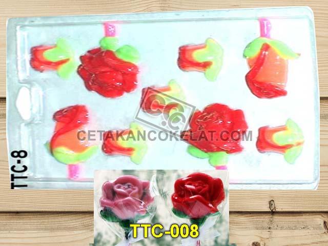 cetakan cokelat coklat TTC8 Bunga Mawar Rose valentine