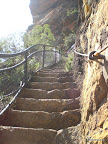 Steiler Weg Wendworth Falls
