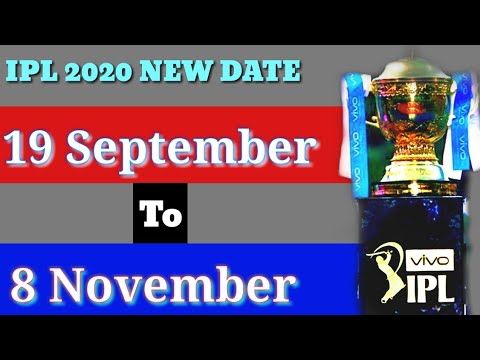 IPL 2020 TIME TABLE DATE DECLARED