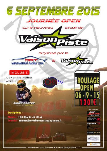 ROULAGE NOUVEAU CIRCUIT VAISON PISTE LE 6 SEPTEMBRE Affiche_VAISONPISTE_redim