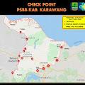 Saat PSBB Berlakukan di Karawang,Inilah Titik Check Point