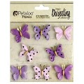 Petaloo: Teastained Purple - Mini Butterflies