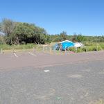 Car parking next to campsites