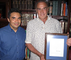 Segio and Gustavo with letter of apology from Bill Clinton- great story- see our blog.