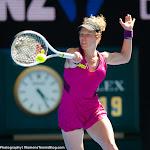 Laura Siegemund in action at the 2016 Australian Open