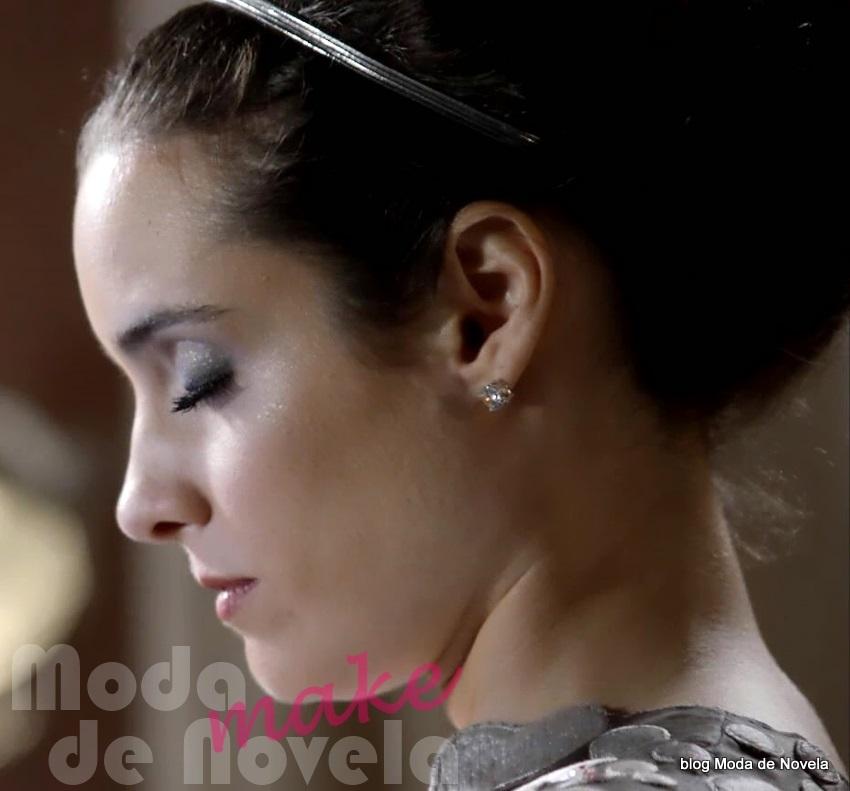 moda da novela Geração Brasil, maquiagem de noivado da Lara