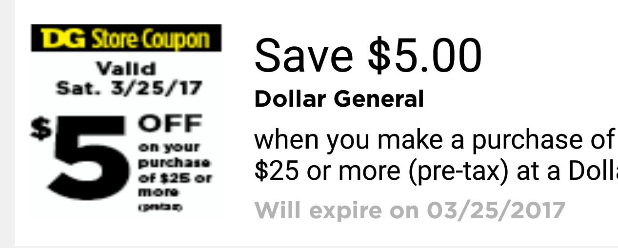 Dollar General Coupon 3 25 Only