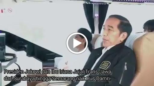 Video Presiden Jokowi Naik Bus DAMRI