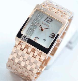 jam tangan Bonia tikar date full rosegold